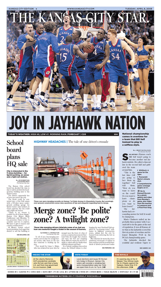 Kansas City Star front page