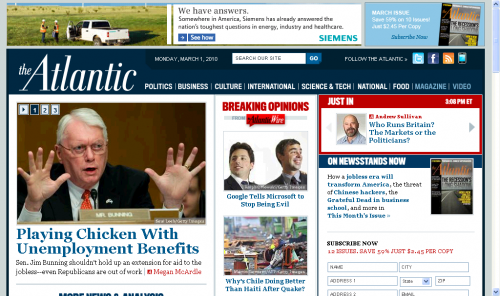 The Atlantic online redesign