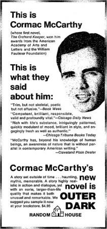 Cormac McCarthy ad