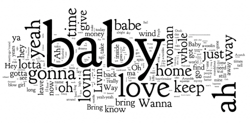 Led Zeppelin 2 lyrics - wordle