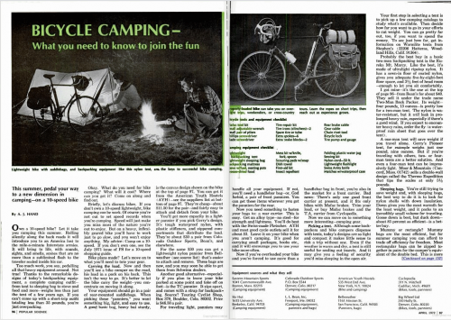 Popular Science - Bike camping