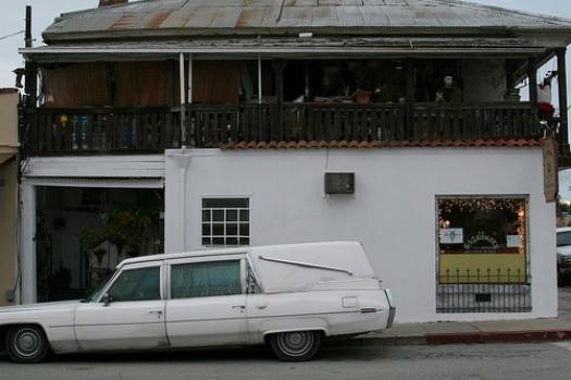 San Juan Bautista - White hearse