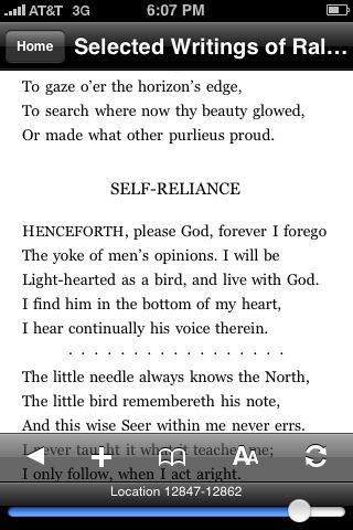 Emerson - Self-Reliance - Kindle - iPhone